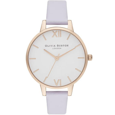 Olivia Burton White Dial Parma Violet Leather Women's Watch (Ob16De09)-Cocomi Malaysia