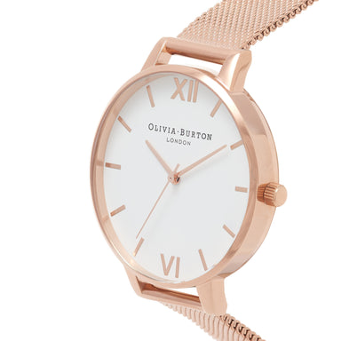 Olivia Burton White Dial Rose-Gold Women's Watch (OB15BD79)-Cocomi Malaysia