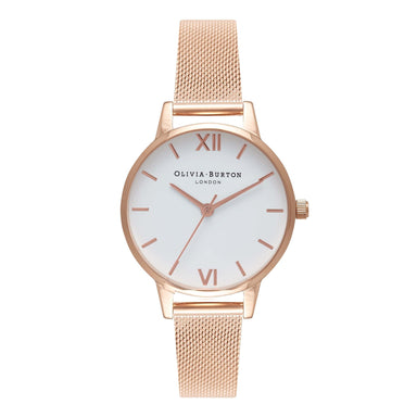 Olivia Burton White Dial Rose Gold Women's Watch (Ob16Mdw01)-Cocomi Malaysia