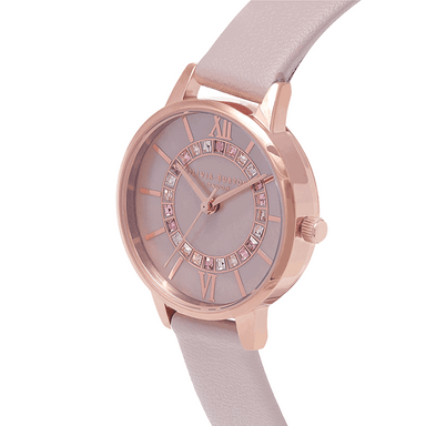 Olivia Burton Wonderland Blush Mother Of Pearl & Stone Women's Watch (OB16WD93)-Cocomi Malaysia