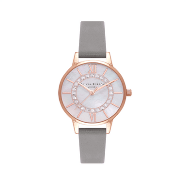 Olivia Burton Wonderland White Mother Of Pearl & Stone Women's Watch (OB16WD92)-Cocomi Malaysia