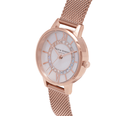 Olivia Burton Wonderland White Mother Of Pearl & Stone Women's Watch (OB16WD95)-Cocomi Malaysia