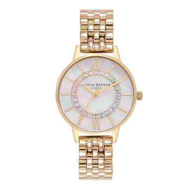 Olivia Burton Wonderland White Mother Of Pearl & Stone Women's Watch (OB16WD97)-Cocomi Malaysia
