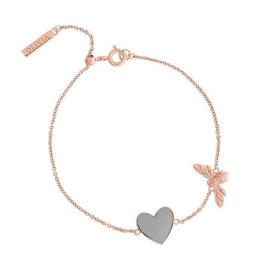 Olivia Burton You Have My Heart Rose Gold Women's Bracelet (OBJLHB29)-COCOMI