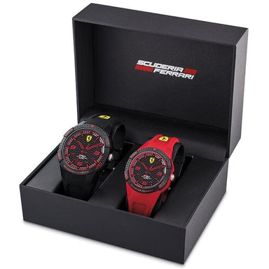 Scuderia Ferrari Apex Black and Red Couple Watch Set (0870044)-Cocomi Malaysia