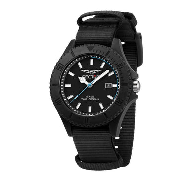 Sector Save The Ocean Black Matt Men's Watch (R3251539002)-Cocomi Malaysia