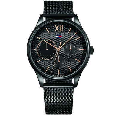 Tommy Hilfiger Black Men's Watch (1791420)-Cocomi Malaysia