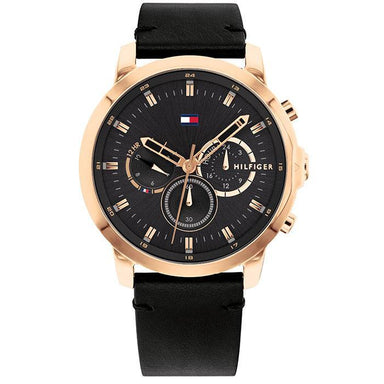Tommy Hilfiger Black Men's Watch (1791798)-Cocomi Malaysia
