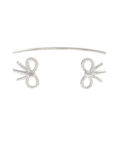 Vintage Bow Open Ended Bangle Silver-Cocomi Malaysia