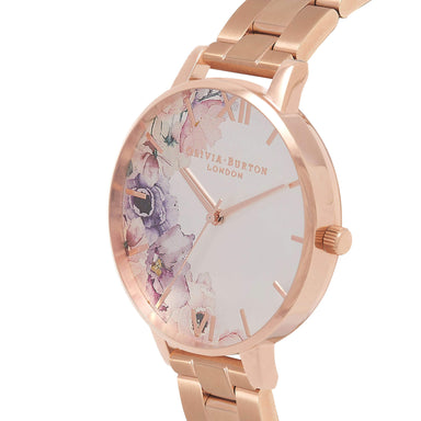 WATERCOLOUR FLORALS Rose-Gold 38 mm Women's Watch-Cocomi Malaysia