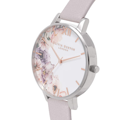 Watercolour Florals Silver 38 mm Women's Watch-Cocomi Malaysia