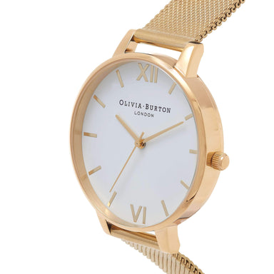 White Dial Gold 38 mm Women's Watch-Cocomi Malaysia