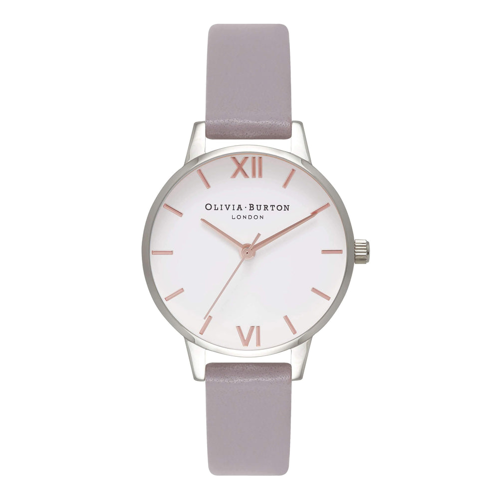 White Dial Midi Dial Grey Lilac 30 mm Women's Watch-Cocomi Malaysia