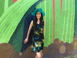 Jungle print sleeveless dress
