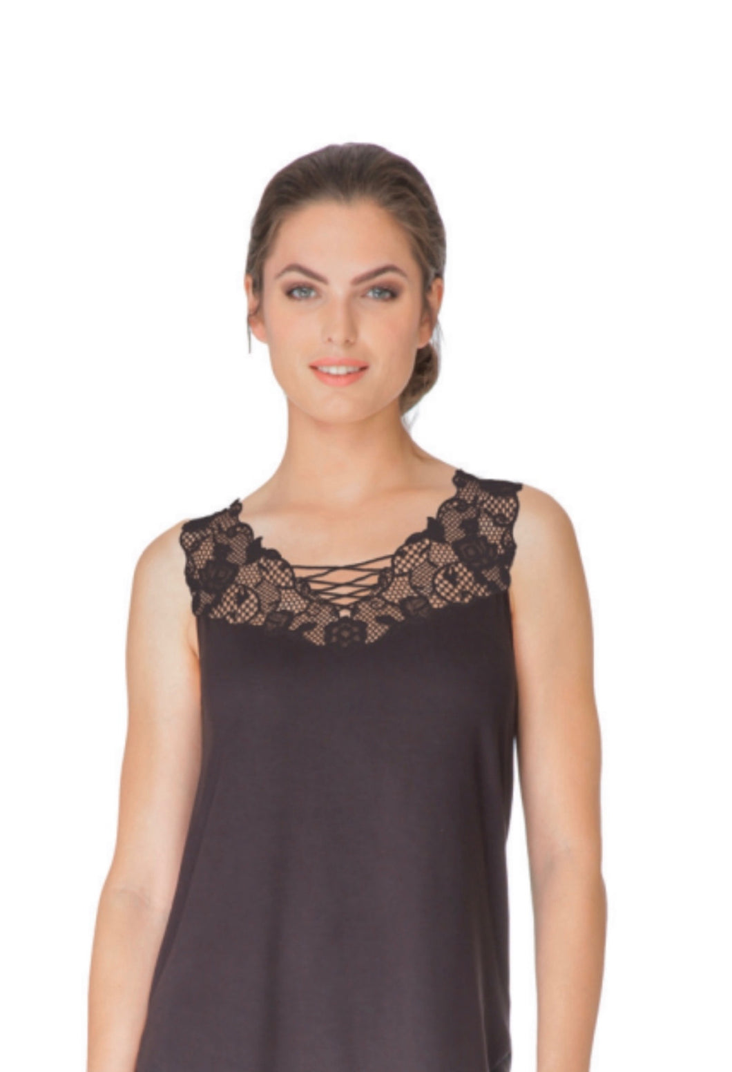 Tunic with Lace Effect Applique
