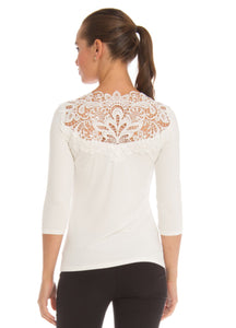 Lace top 3/4 sleeve