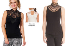 Load image into Gallery viewer, High Neck Lace Top