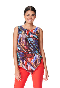 Sleeveless Multi-Colored Top