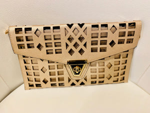 Gold Geometrical Clutch