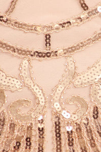 Blush Sleeveless Sequins Dress