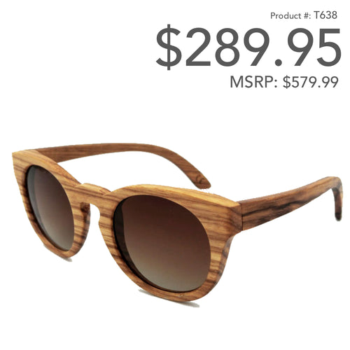 Wood Sunglasses with Polarized lenses