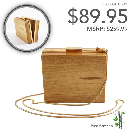 Square Wood Clutch