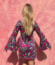 Load image into Gallery viewer, Pink Bell Sleeve Dress
