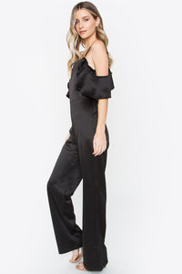 Cold Shoulder Black Jumpsuit