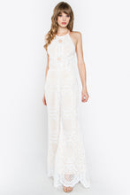 Load image into Gallery viewer, Elegant White Crochet Jumpsuit