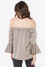 Load image into Gallery viewer, Olive Off The Shoulder Ruffle Top