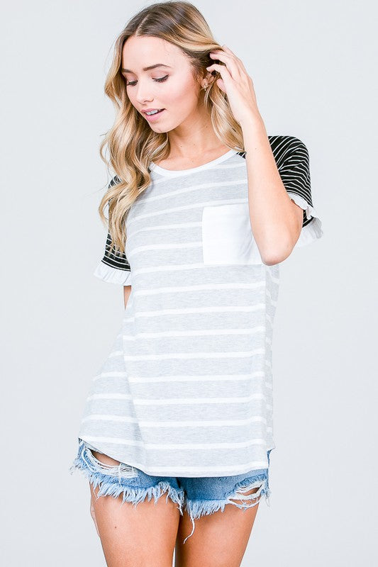 Raglan Cap Sleeve Top
