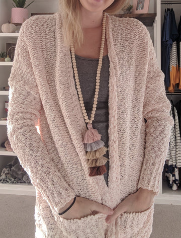 Cozy Cardigan - Blush
