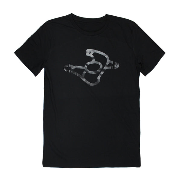 Walking Man Black On Black T-Shirt