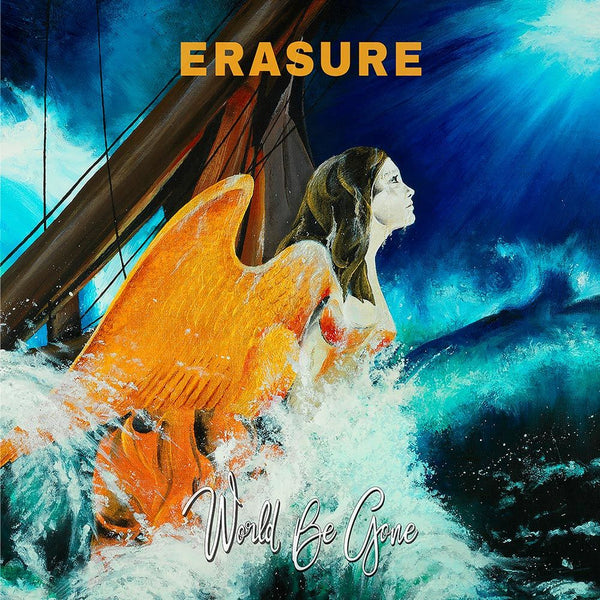 Erasure World Be Gone Orange Vinyl Erasure Mute Bank
