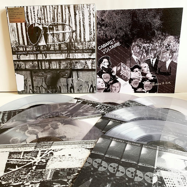 Cabaret Voltaire - Methodology 74/75 Attic Tapes - Limited Edition 7 x Clear Vinyl Box Set (Signed)
