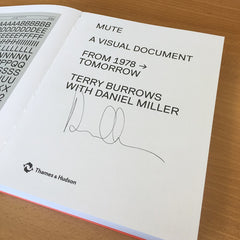 Mute - A Visual Document (English Language Version) - Book (Signed by Daniel Miller)