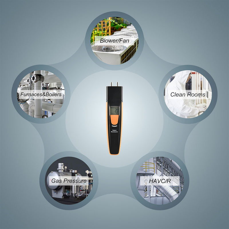 HT-805 Bluetooth Digital Manometer - shopxintest