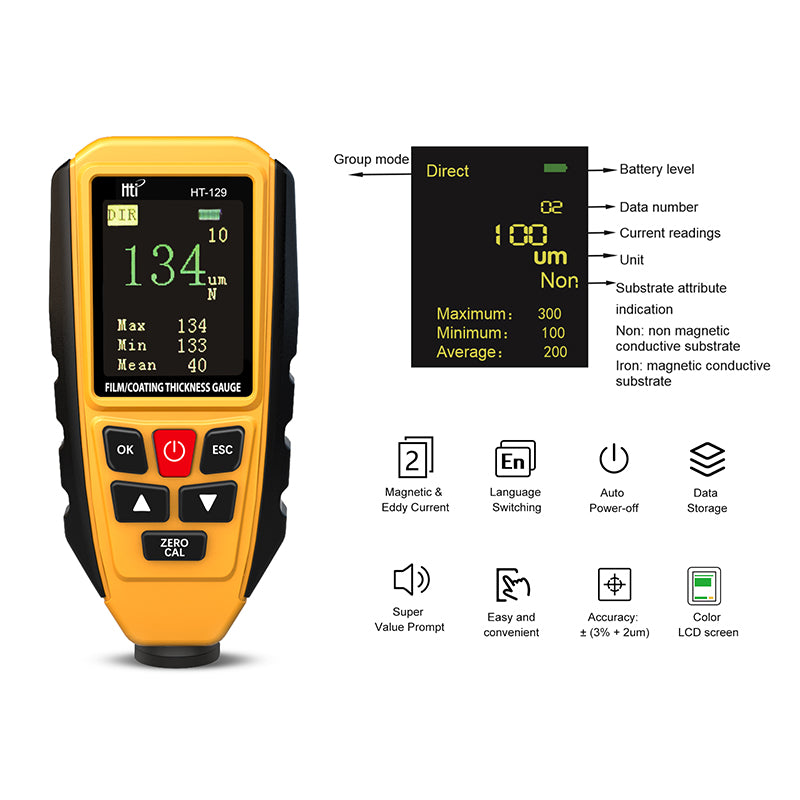 HT-129 Thickness Gauge Meter