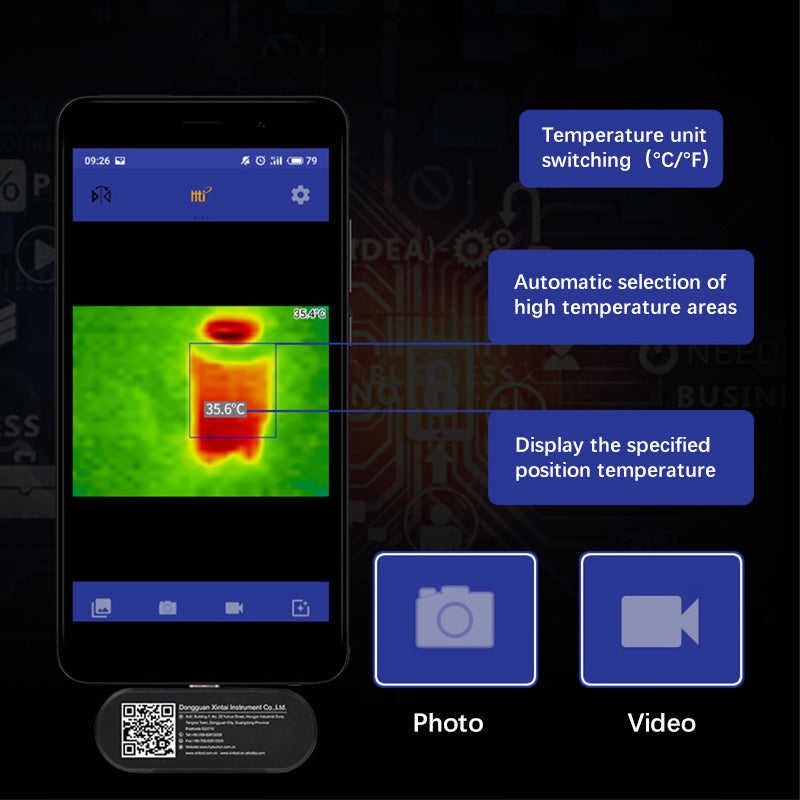 HT-102 Mobile Phone Thermal Imager(32×32)
