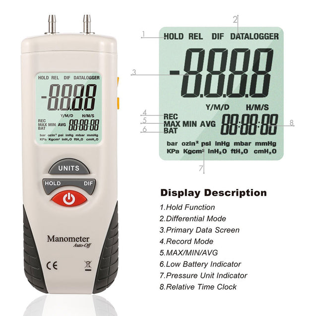 HT-1890 Digital Differential Pressure Gauge - shopxintest