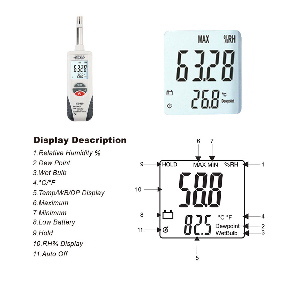 HT-350 Temperature And Humidity Instrument - shopxintest