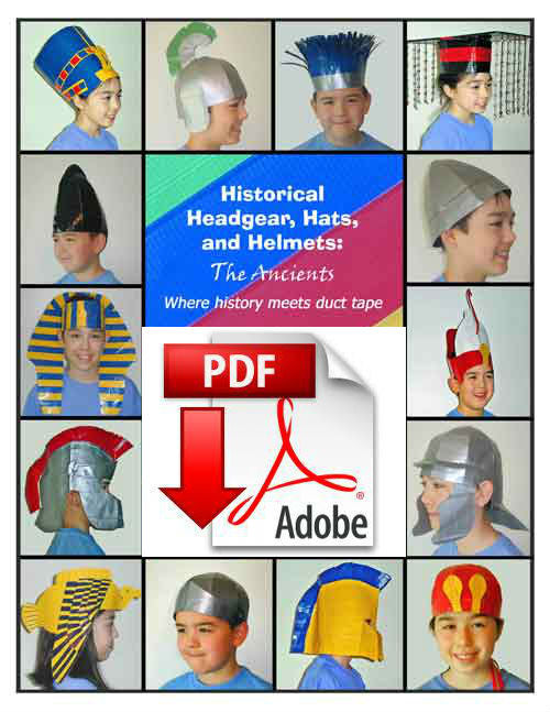 Historical headgear, hats and helmets art project