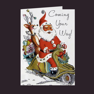 Vintage Series Coming Your Way Santa Holiday Card