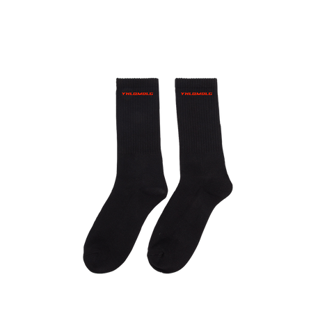 YHLQMDLG BLACK SOCKS