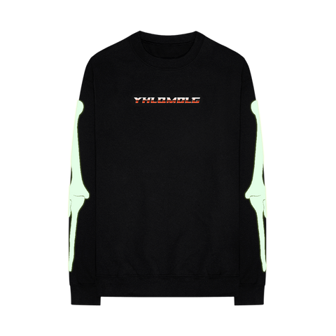 YHLQMDLG GLOW IN THE DARK CREWNECK SWEATSHIRT