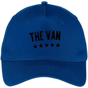 The Van Black Logo CP86 Five Panel Twill Cap