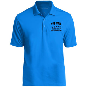 The Van Black Logo K110 Dry Zone UV Micro-Mesh Polo