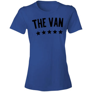The Van Black Logo 880 Ladies' Lightweight T-Shirt 4.5 oz