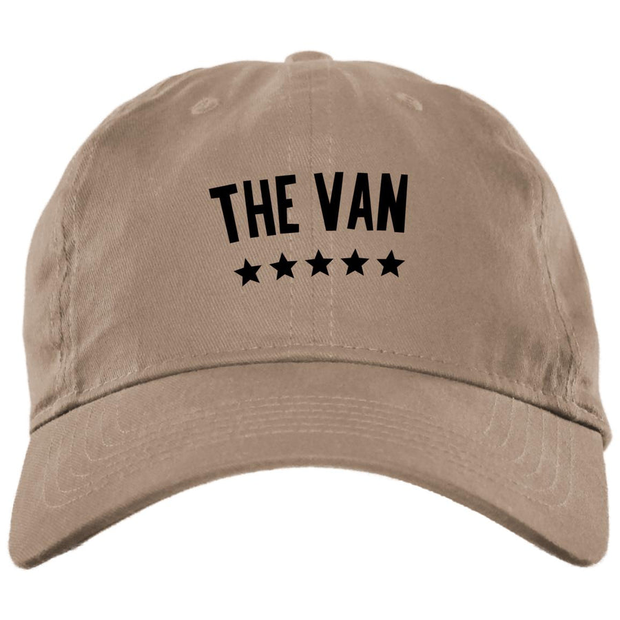 The Van Black Logo BX001 Brushed Twill Unstructured Dad Cap