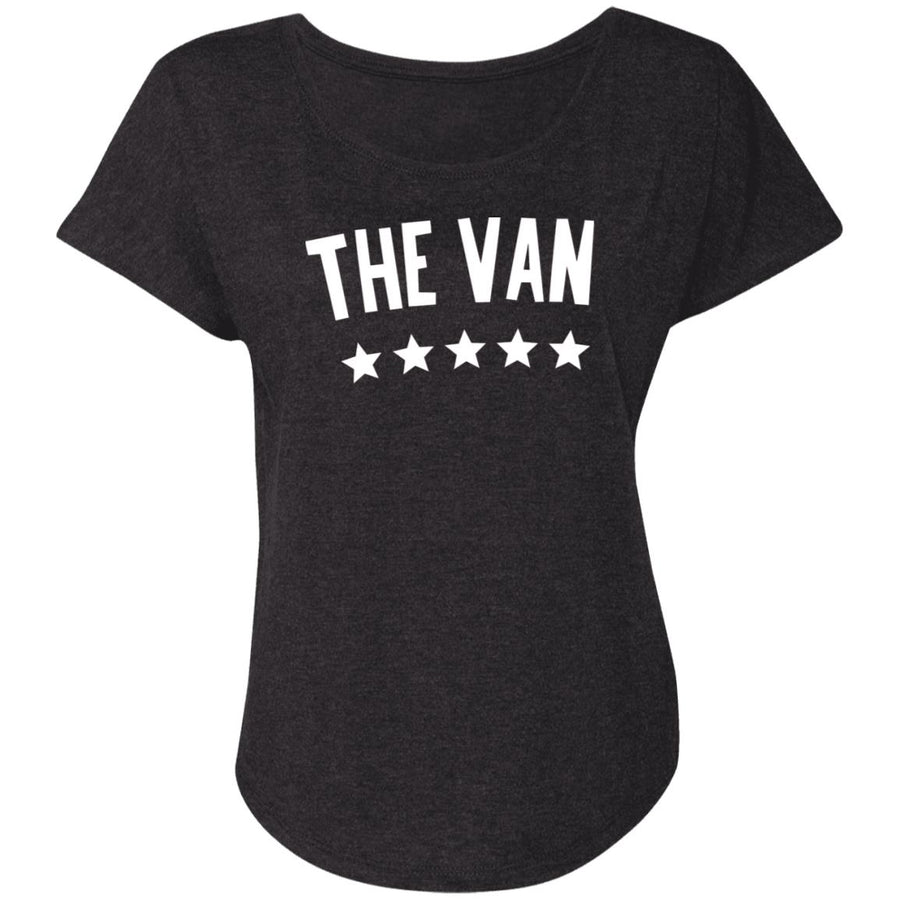 The Van White Logo NL6760 Ladies' Triblend Dolman Sleeve
